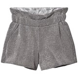 Fendi Silver Lurex Metallic Shorts