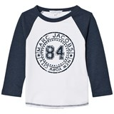 Little Marc Jacobs White and Blue Raglan Branded Tee