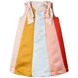 Hucklebones Rainbow Trapeze Dress with Bow Detail