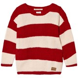 Pepe Jeans Red and Cream Stripe Jumper