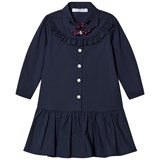 Vivetta Navy Hand Embroidered Collar Shirt Dress