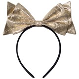 Hucklebones Gold Lame Giant Bow Headband
