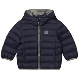 Armani Junior Navy Down Puffer Coat