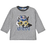 Armani Junior Grey Marl Army French Bulldog Print