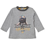 Armani Junior Grey Marl Flying Pug Print Tee
