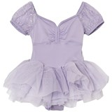 Mirella Lilac Sequin Butterfly Tulle Puff Sleeve Tutu Dress