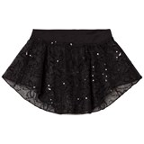 Mirella Black Sequin Butterfly Tulle Uneven Skirt
