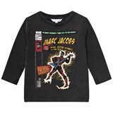 Little Marc Jacobs Black Washed Comic Print Tee