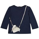 Little Marc Jacobs Navy Bag Print Tee