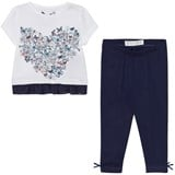 Guess White Floral Heart Print Tee and Jersey Leggings Set