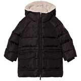 Il Gufo Black Padded Parka with Teddy Hood Lining