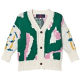 The Animals Observatory Green Grass Peasant Kids Cardigan