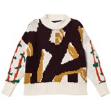 The Animals Observatory Deep Brown Bull Kids Sweater