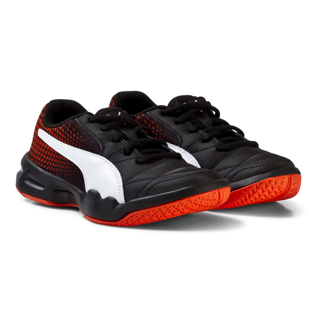 16a65f1a4 Puma Black and Red Veloz Indoor Trainers