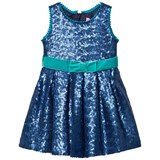 Holly Hastie Navy Beau Sequin Dress