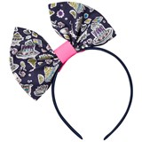 Holly Hastie Liberty Navy Cakes Print Hair Bow