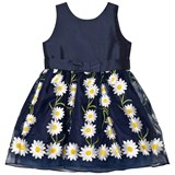 Holly Hastie Navy Daisy Embroidered Dress