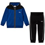 BOSS Blue and Black Tracksuit Set