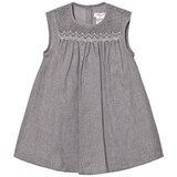 Cyrillus Grey Woven Smock Dress