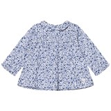 Cyrillus Blue Floral Collar Dress