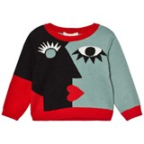 RaspberryPlum Black and Blue Front Face Jumper