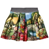 Monnalisa Snow White Print Neoprene Skirt
