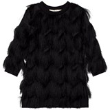 Andorine Black Chevron Fringe Dress