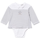 Cyrillus White and Blue Sailor Long Sleeve Body