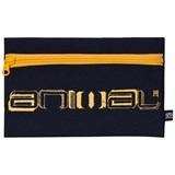 Animal Navy Graphic Dark Flat Pencil Case