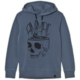Animal Light Blue Skull Hoody Sweater