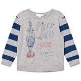 Burberry Blue Piccadily Circus Print Oliver Tee