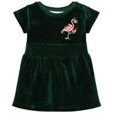 Tao & Friends Dress Flamingon Mini Embroidered Velvet Green