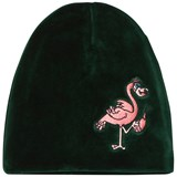 Tao & Friends Beanie Flamingon Velvet Green