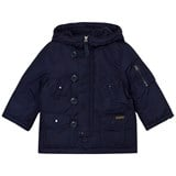 Ralph Lauren Navy Padded Parka with Faux Fur Hood