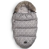 Elodie Details Grey Mini Floral Faux Fur Footmuff