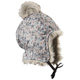 Elodie Details Grey Mini Floral Print Faux Fur Winter Hat
