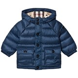 Burberry Ink Blue Mini Lachlan Down Puffer Jacker