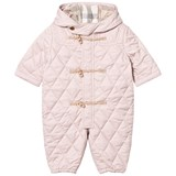 Burberry Pale Pink Quilted Keeper Snowsuit