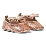 Michael Kors Rose Gold Glitter Bow Crib Shoes