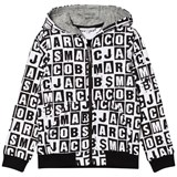 Little Marc Jacobs Black and White All Over Branded Hoody