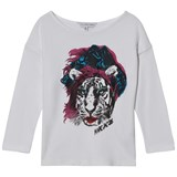 Little Marc Jacobs White Tiger Print Tee