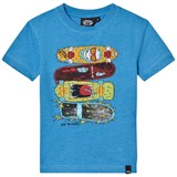 Animal Light Blue Front Print Skate T-Shirt