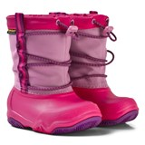 Crocs Kids Swiftwater Waterproof Boot K Party Pink/Candy Pink