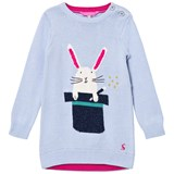 Joules Blue Bunny in a Hat Knit Dress