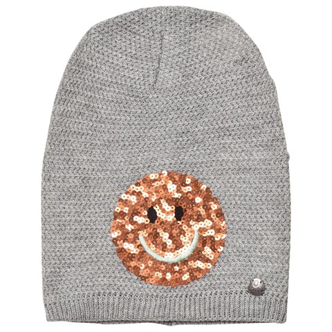 Barts Light Grey Smiley Face Beanie