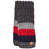 Barts Dark Grey and Red Striped Scarf