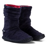Joules Navy and White Stripe Slipper Socks