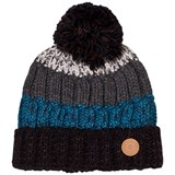 Barts Black and Blue Striped Beanie