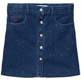 Sonia Rykiel Blue Denim Skirt with Diamante Detail