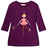 Sonia Rykiel Purple Girl and Embroidered Detail Jersey Dress